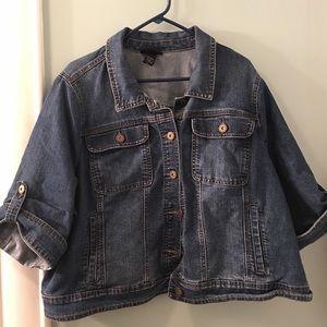 Lane Bryant cropped jean jacket
